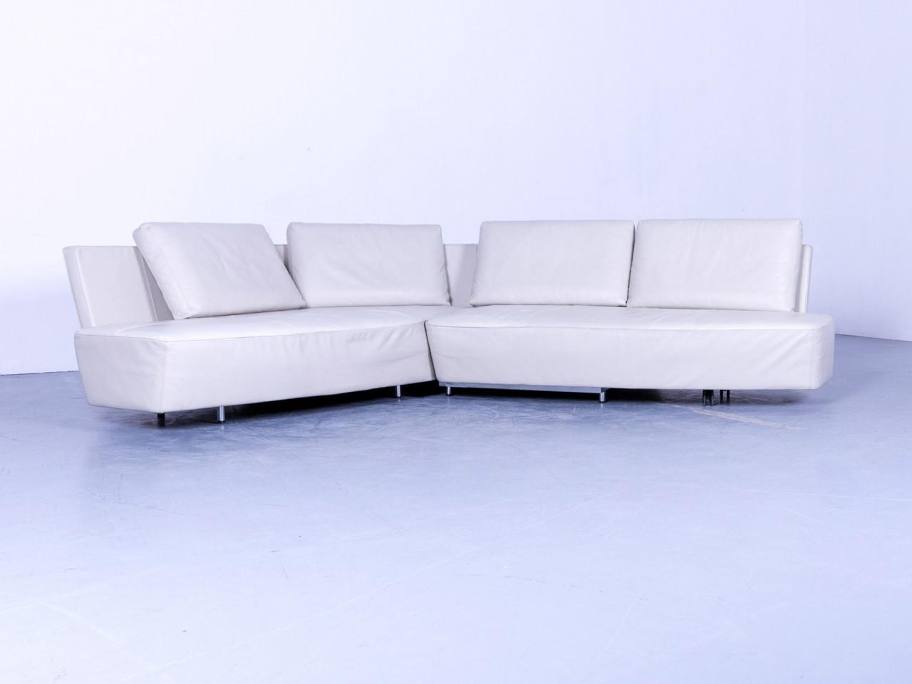 Walter Knoll Drift Designer Leder Eck Sofa Weiß Couch Funktion ...