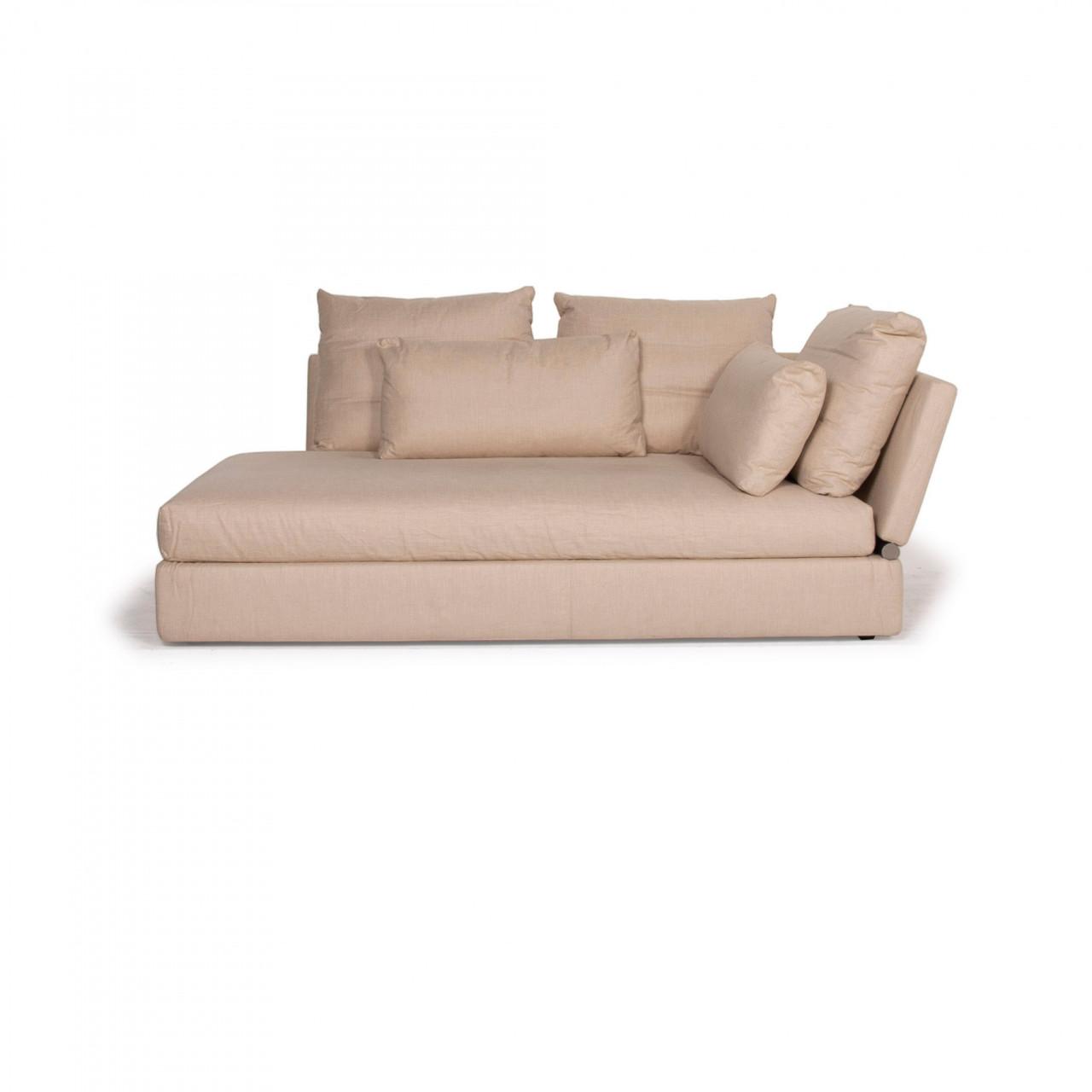 Flexform Sunny Stoff Sofa Beige Zweisitzer Liege #14837 ...
