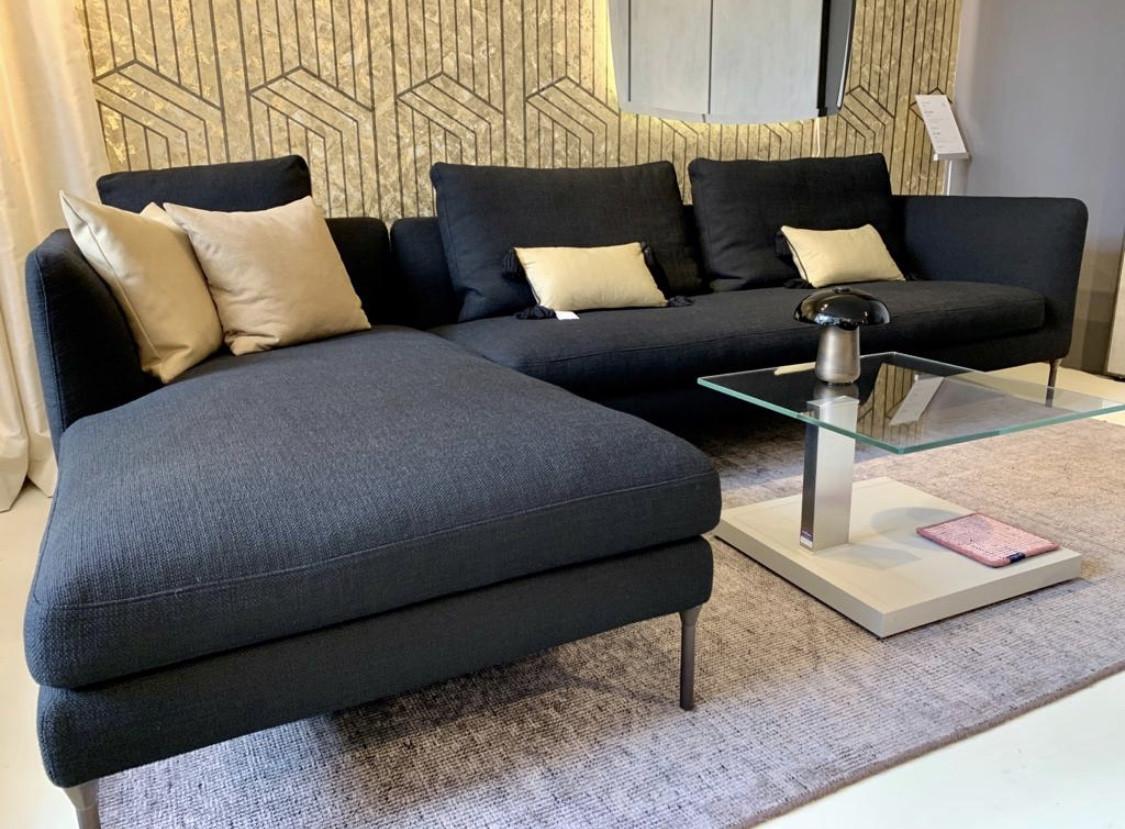 Eck-Sofa Pure Black Stoff abnehmbar | Designermöbel Köln