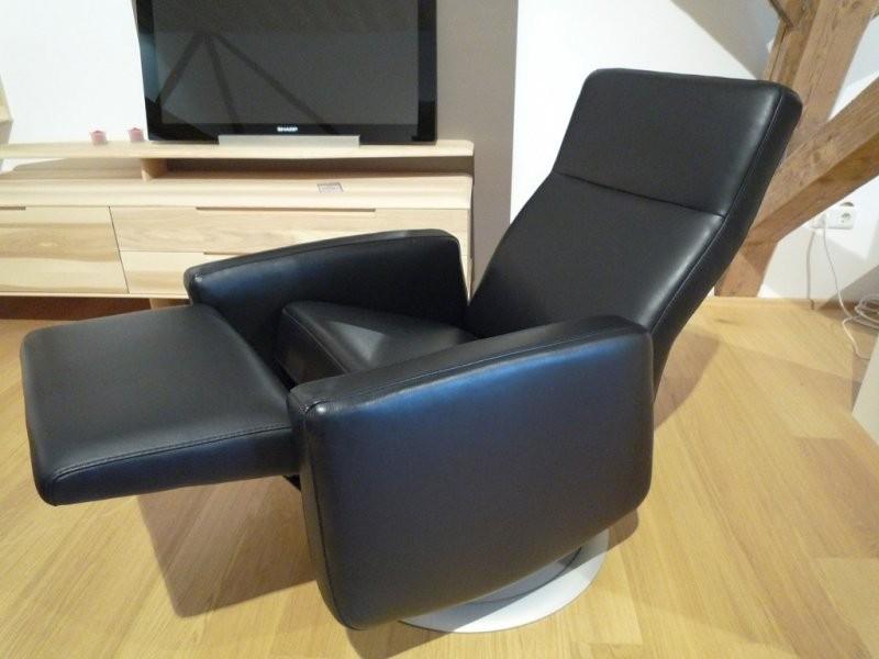 Fernsehsessel forma von sedda in schwarzem leder for Fernsehsessel in leder