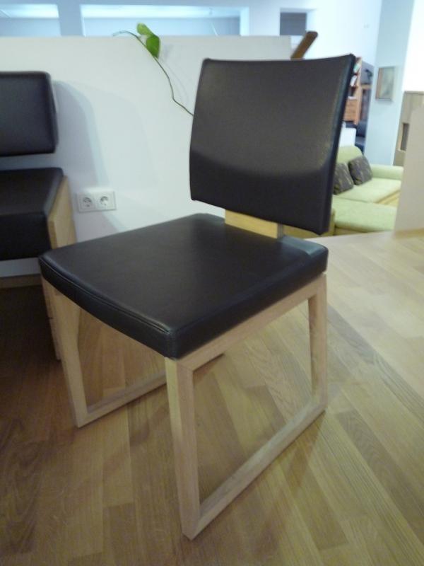 voglauer stuhl montana in wildeiche mit leder designerm bel hohentengen. Black Bedroom Furniture Sets. Home Design Ideas