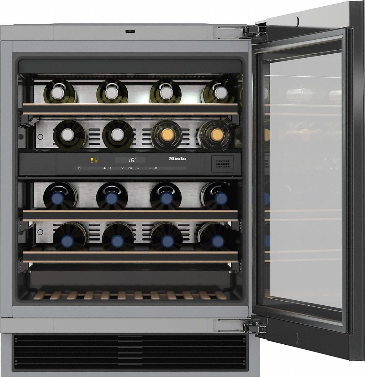 Miele KWT 6322 UG Unterbau-Weintemperierschrank mit FlexiFrame und Push2open, ! | Designermöbel Hemmingen
