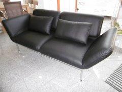 Brühl Sofa Roro medium in Leder schwarz