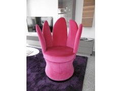 Brühl Sessel Lemon in Möbelstoff pink