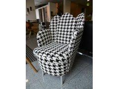 Brühl Sessel morning dew mit Stoff bezogen Hahnentritt