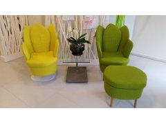"""Brühl-Sessel """"Morning Dew"""". Preis für beide Sessel + Hocker (auch einzeln erhältlich)"""
