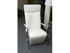 INTERPROFIL Sessel SPINA Gestell verchromt Leder weiß