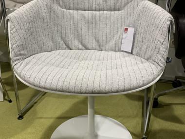 FLOW SLIM Chair mit Armlehne von MDF Italia , Tellerfuß weiß