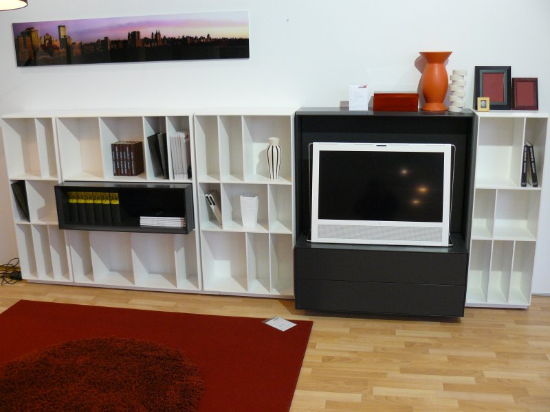 flex regalsystem mit tv teil von piure designerm bel solingen. Black Bedroom Furniture Sets. Home Design Ideas