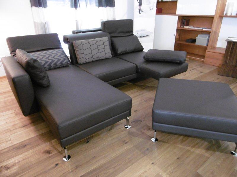 br hl sofa moule mit hocker in leder unit von br hl sippold designerm bel hohentengen. Black Bedroom Furniture Sets. Home Design Ideas