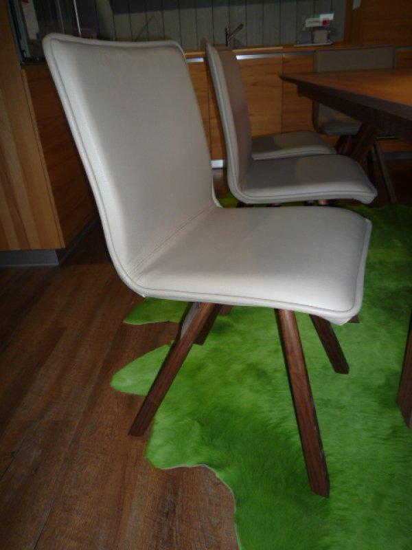 voglauer stuhl v loft in wildnuss und leder stone. Black Bedroom Furniture Sets. Home Design Ideas